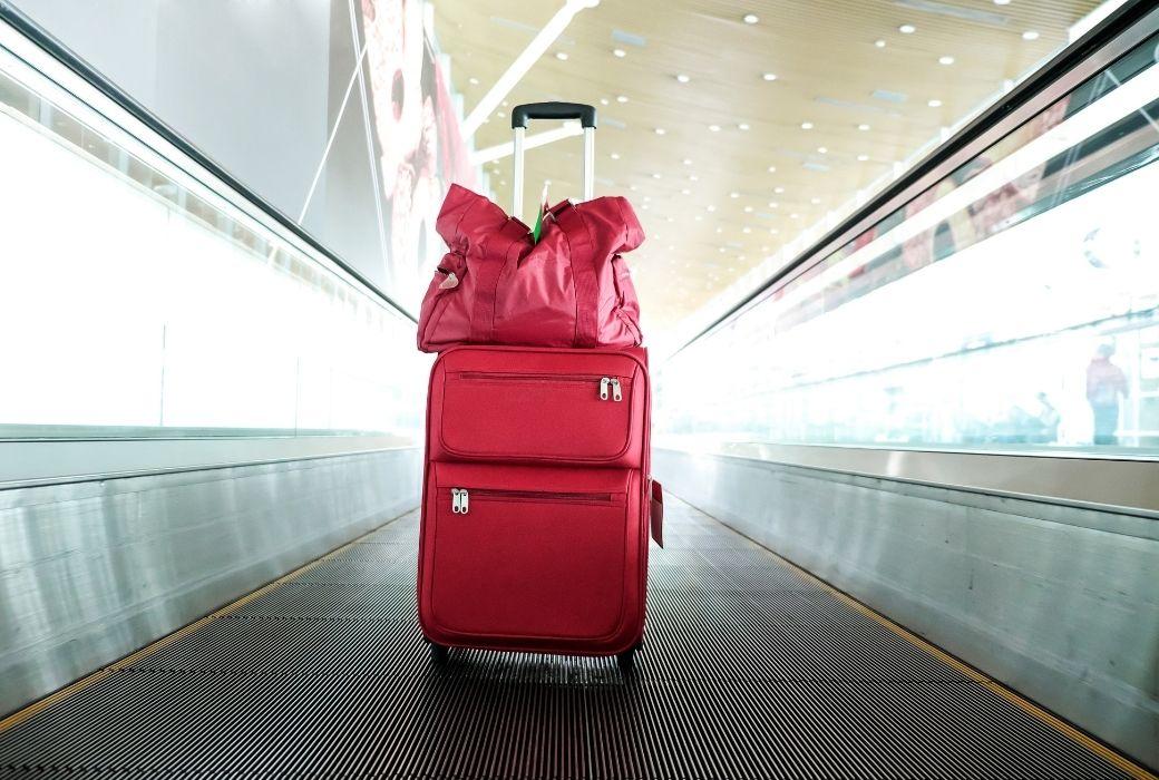 Bag on walkway airport